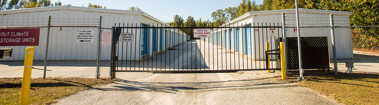 Fenced and Gated Self Storage Protection