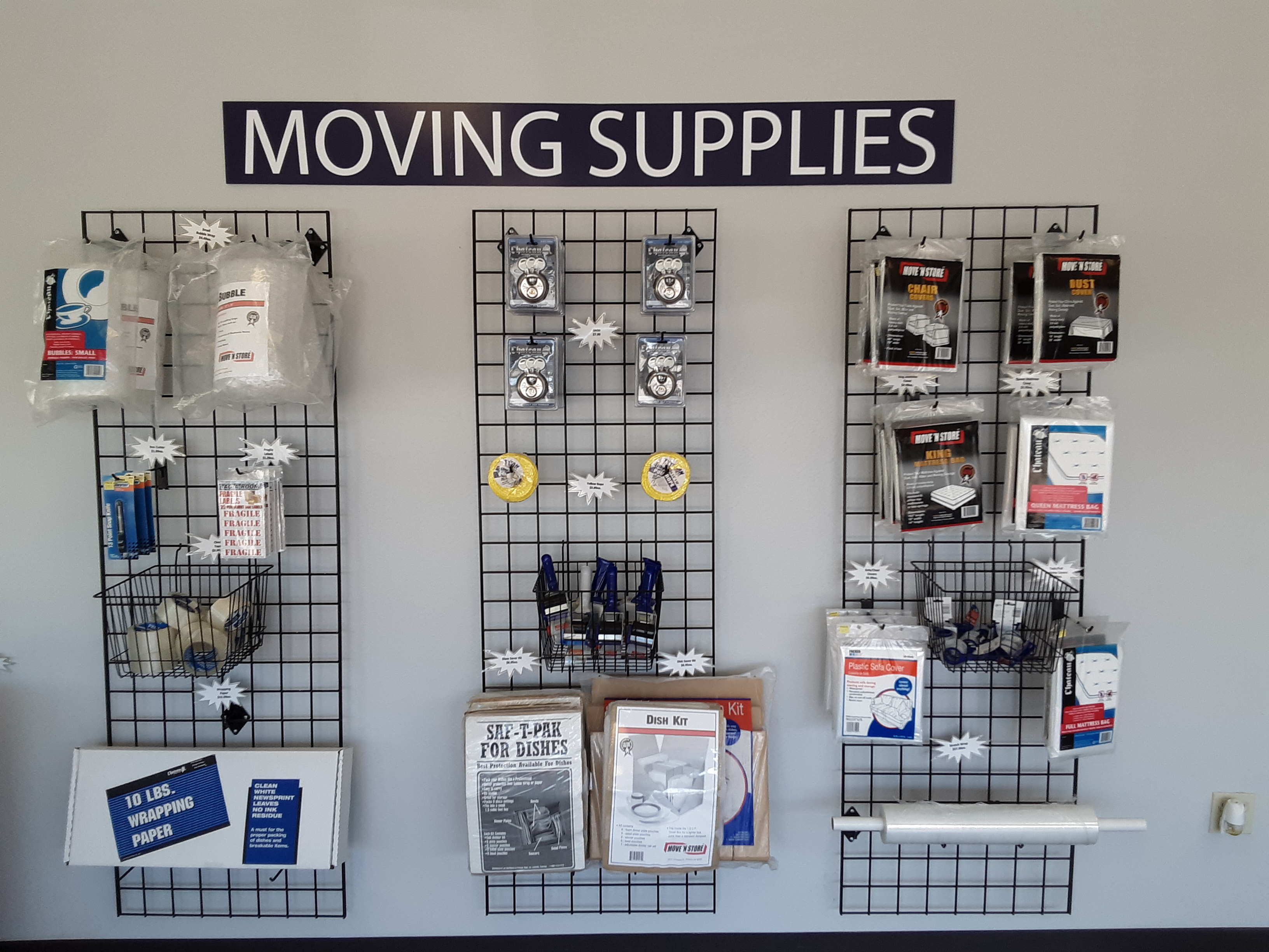 Moving Supplies at Cypresswood