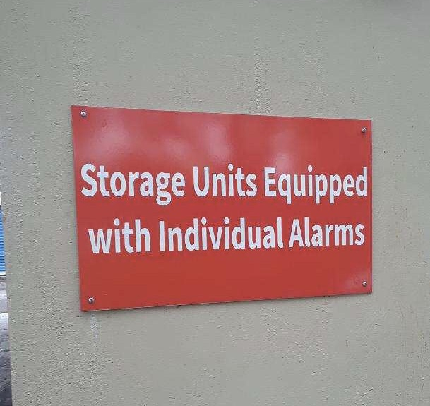 Storage Units are equipped with Individual Alarms