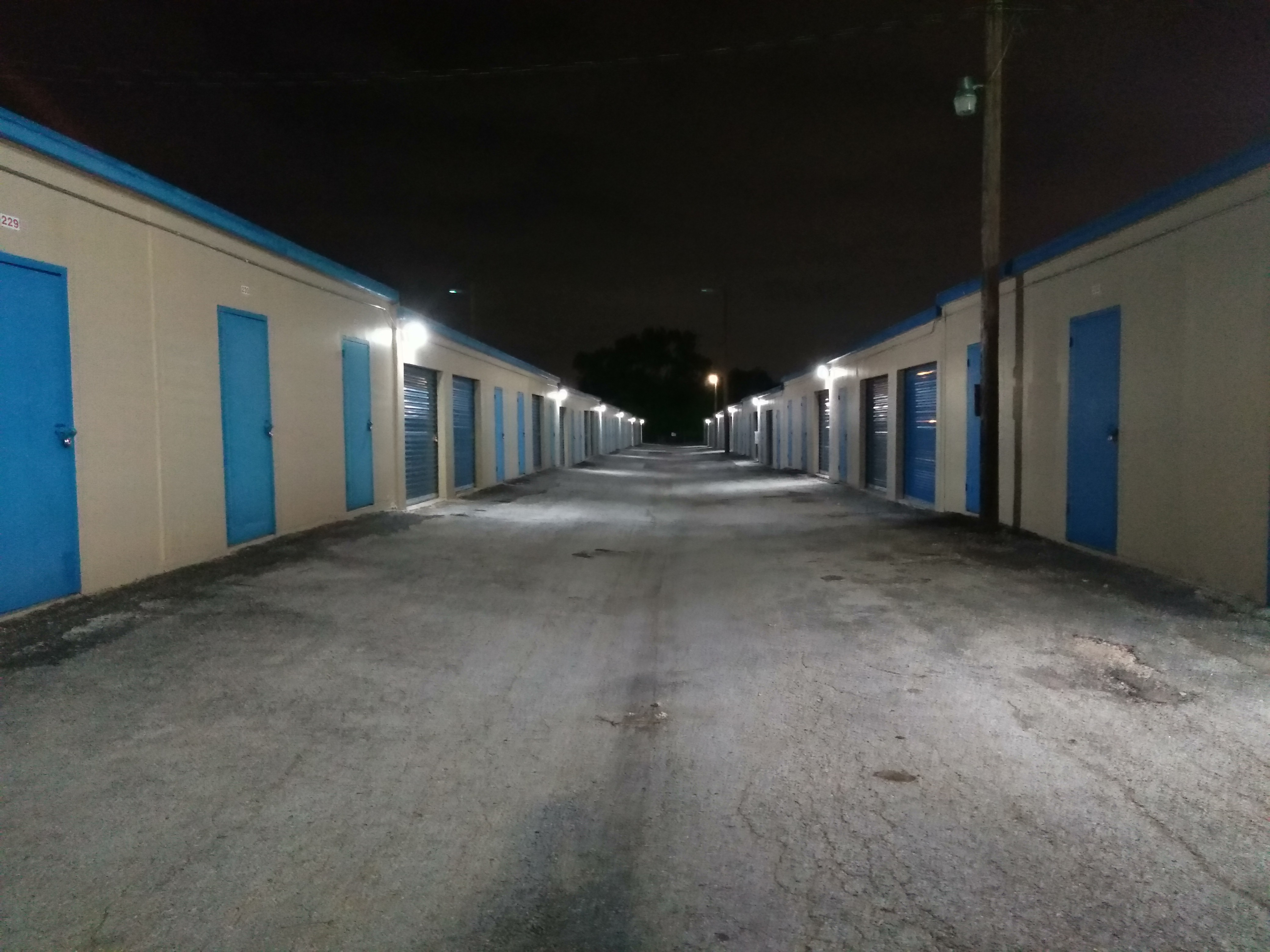 Well Lit at Night Self Storage