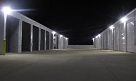 SteelCreek Self Storage at night