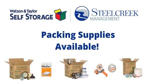Watson & Taylor Self Storage U-Haul Packing Supplies Merchandise