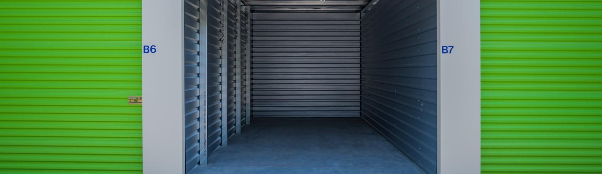 Open storage unit at Trust Self Storage
