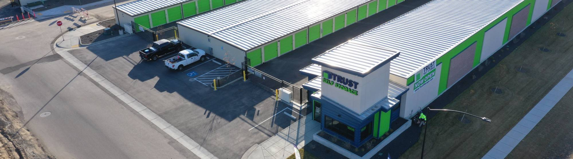 Sky view of self storage facilities in Boise, ID
