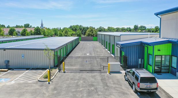 Security gate at Trust Self Storage