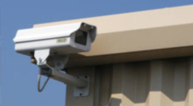 Security camera at Harbour Storage