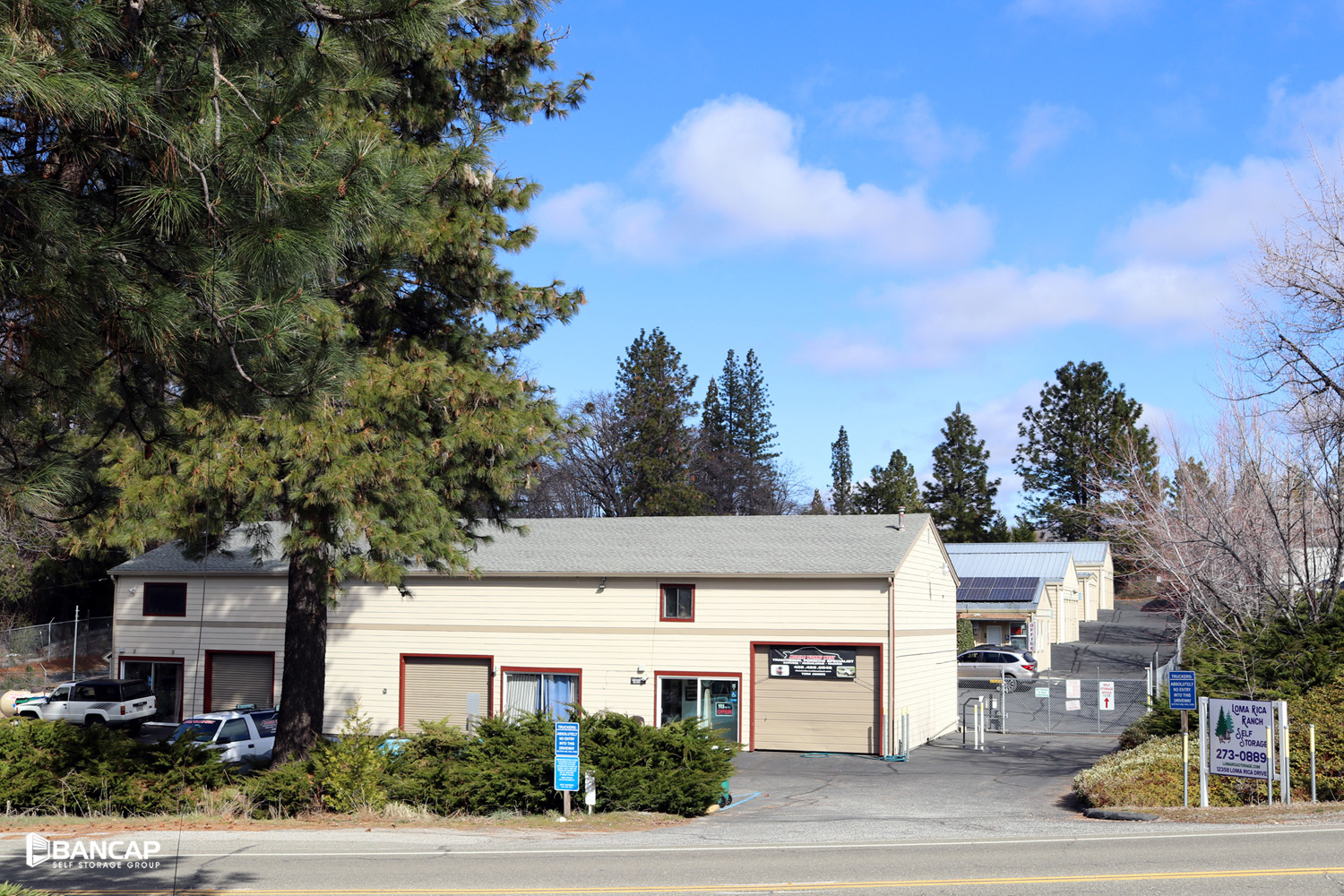 fenced entry drive up units available grass valley, ca