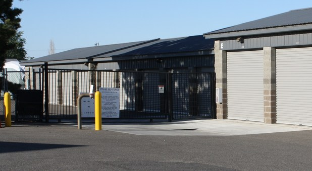 Gate entry at 27th Ave. Self Storage