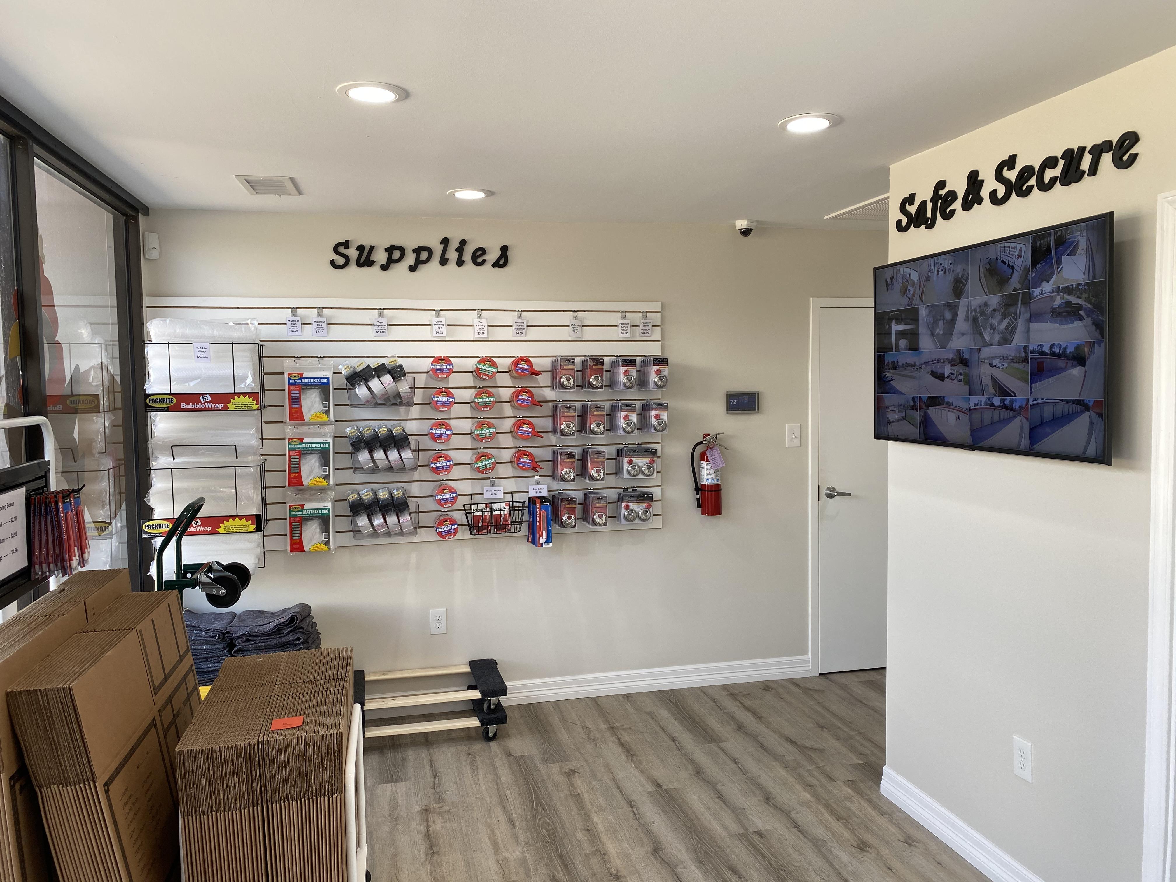 Wally's Self Storage Storefront Inside