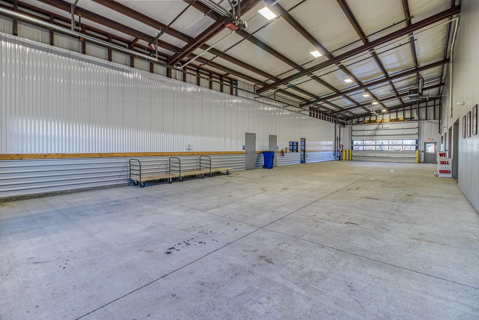 Interior Covered Loading Area in Blue Springs MO