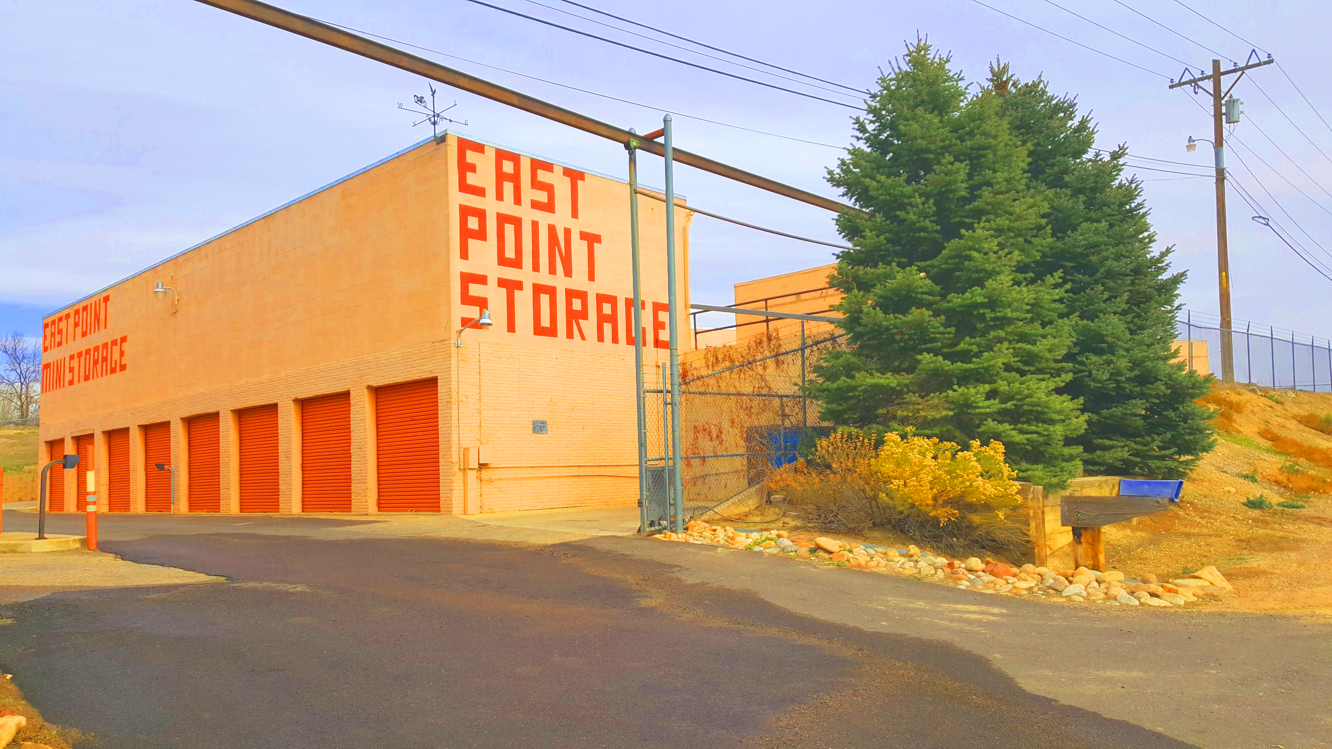 East Point Mini Storage building with drive up access doors