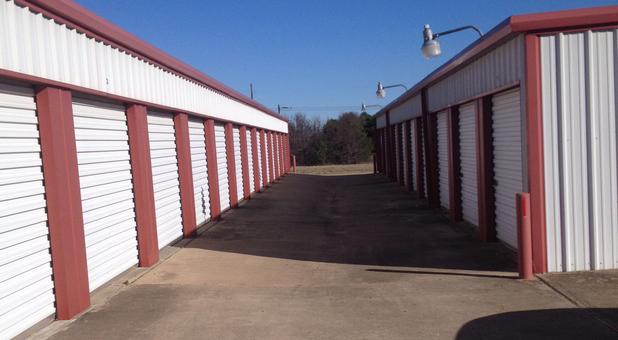 Drive up self storage units at Mission Storage