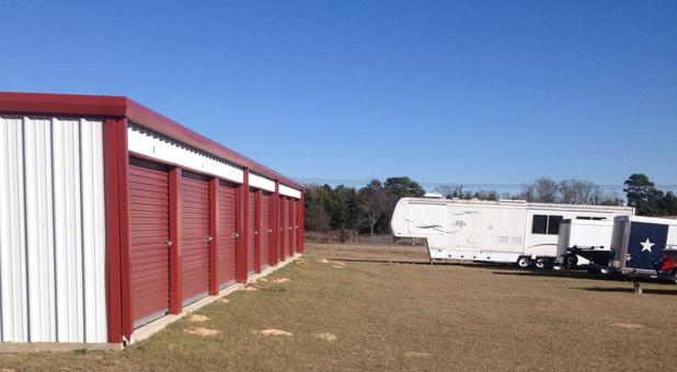 Row of self storage units in Lindale, TX