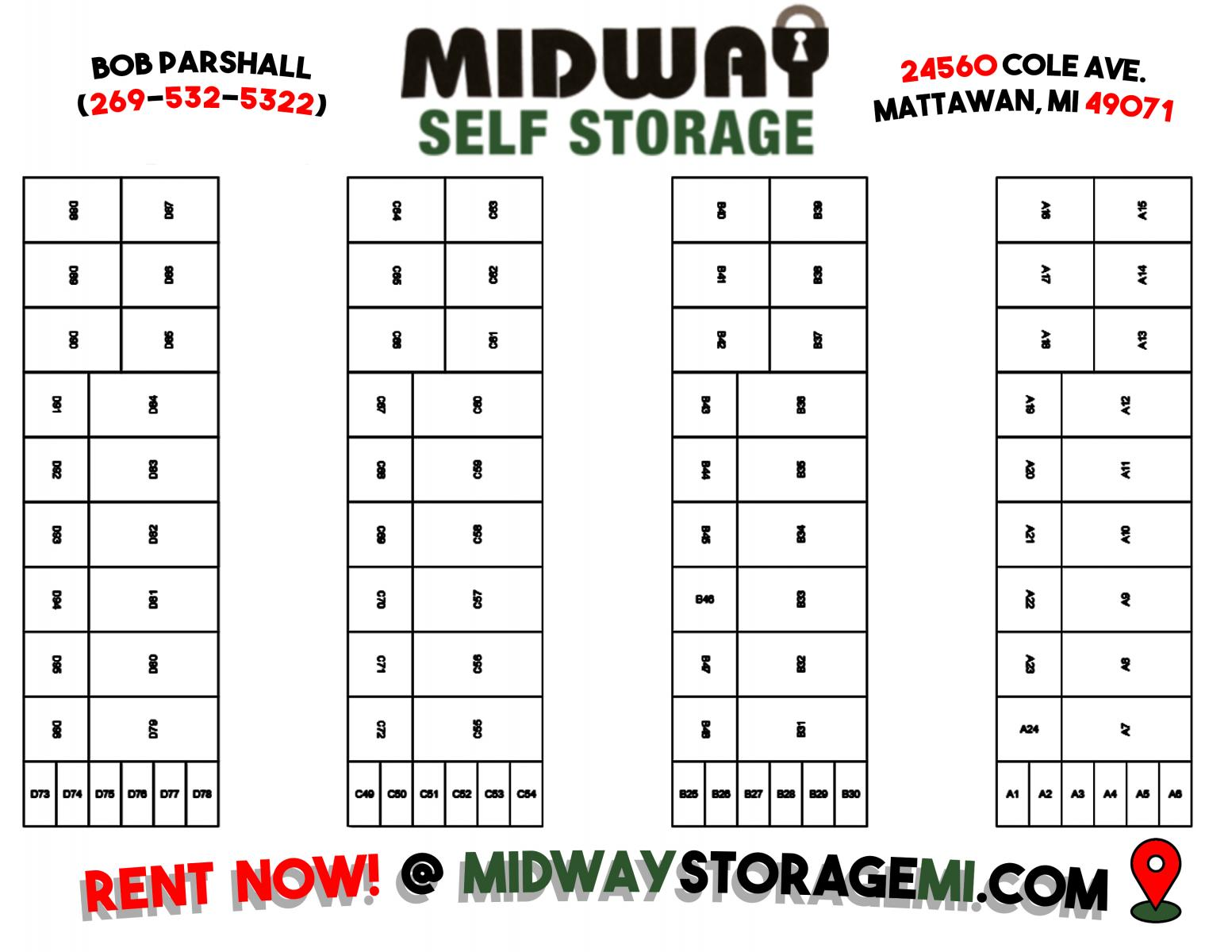 Midway Self Storage facility map