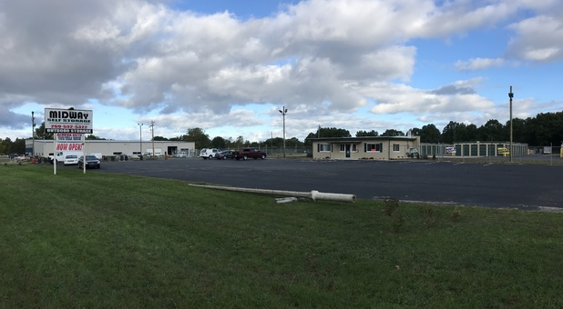 Street view of Midway Self Storage facility