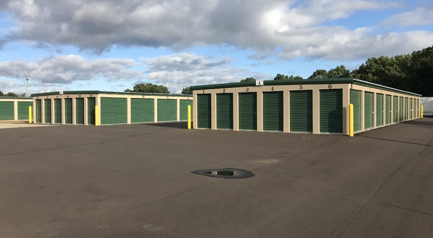 Rows of self storage units in Mattawan, MI
