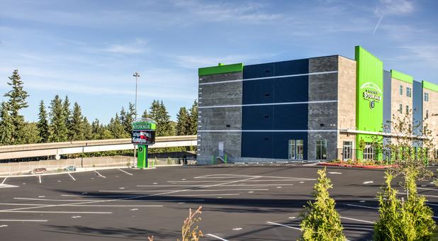 At-distance view of Stadium Storage in Everett, WA