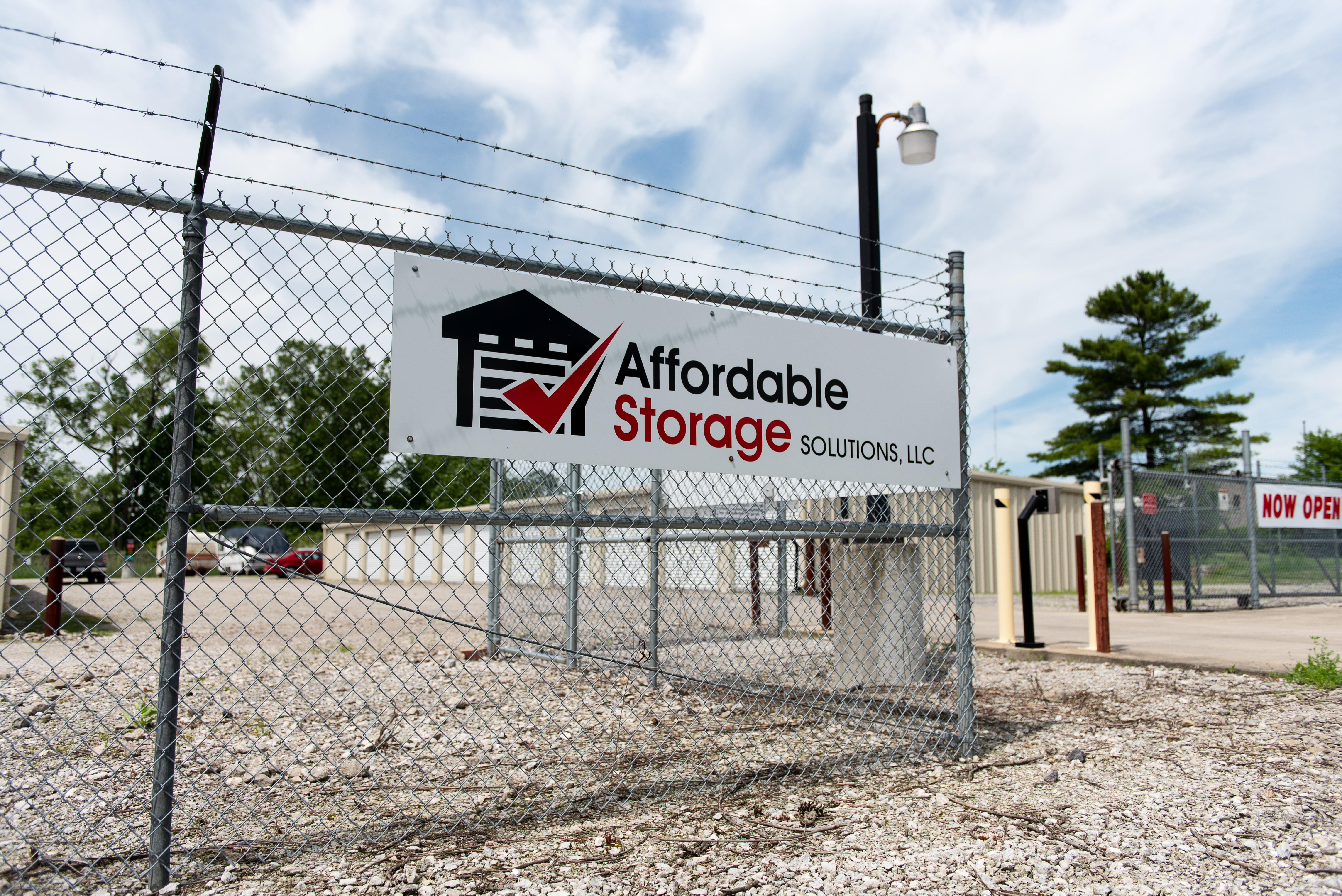affordable storage solutions sign