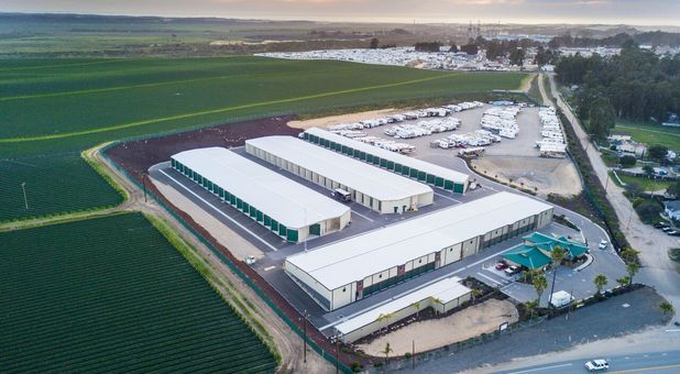 Aerial view of Monarch Mega Storage