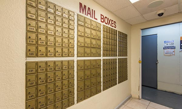 Mailbox services, self storage