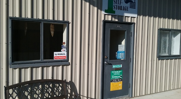 Front entrance of 1st Self Storage