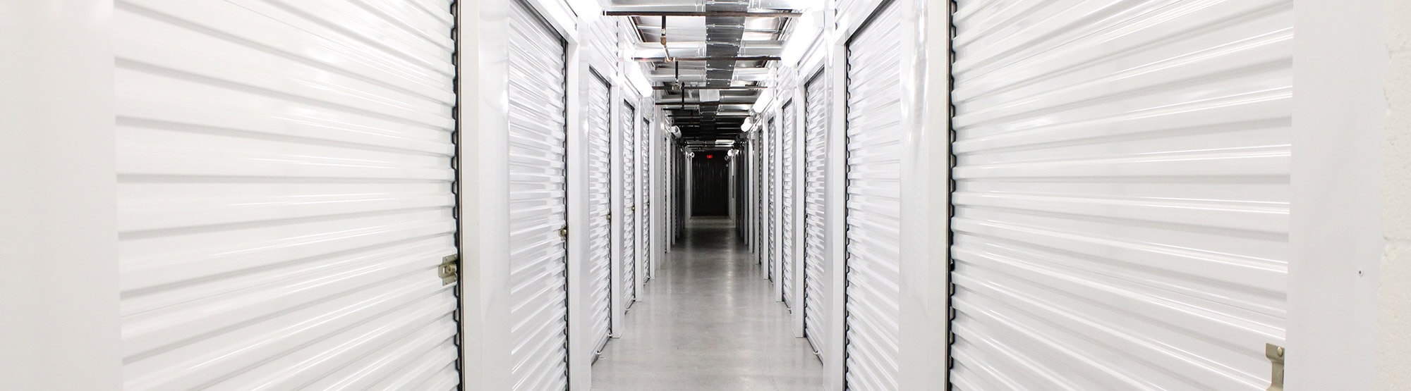 Hall of storage units in Comfort, TX