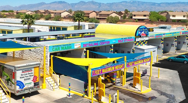 car wash bays at Rita Ranch RV & Self Storage