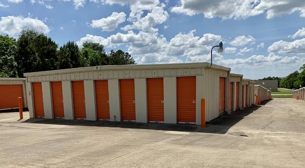 Drive up access storage doors