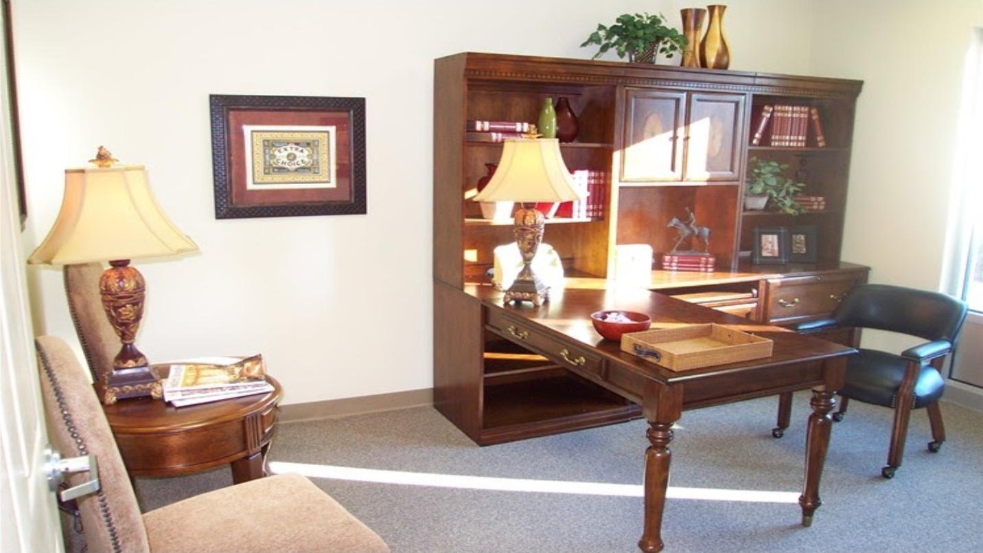 Reception area for office suites in Hiram, GA