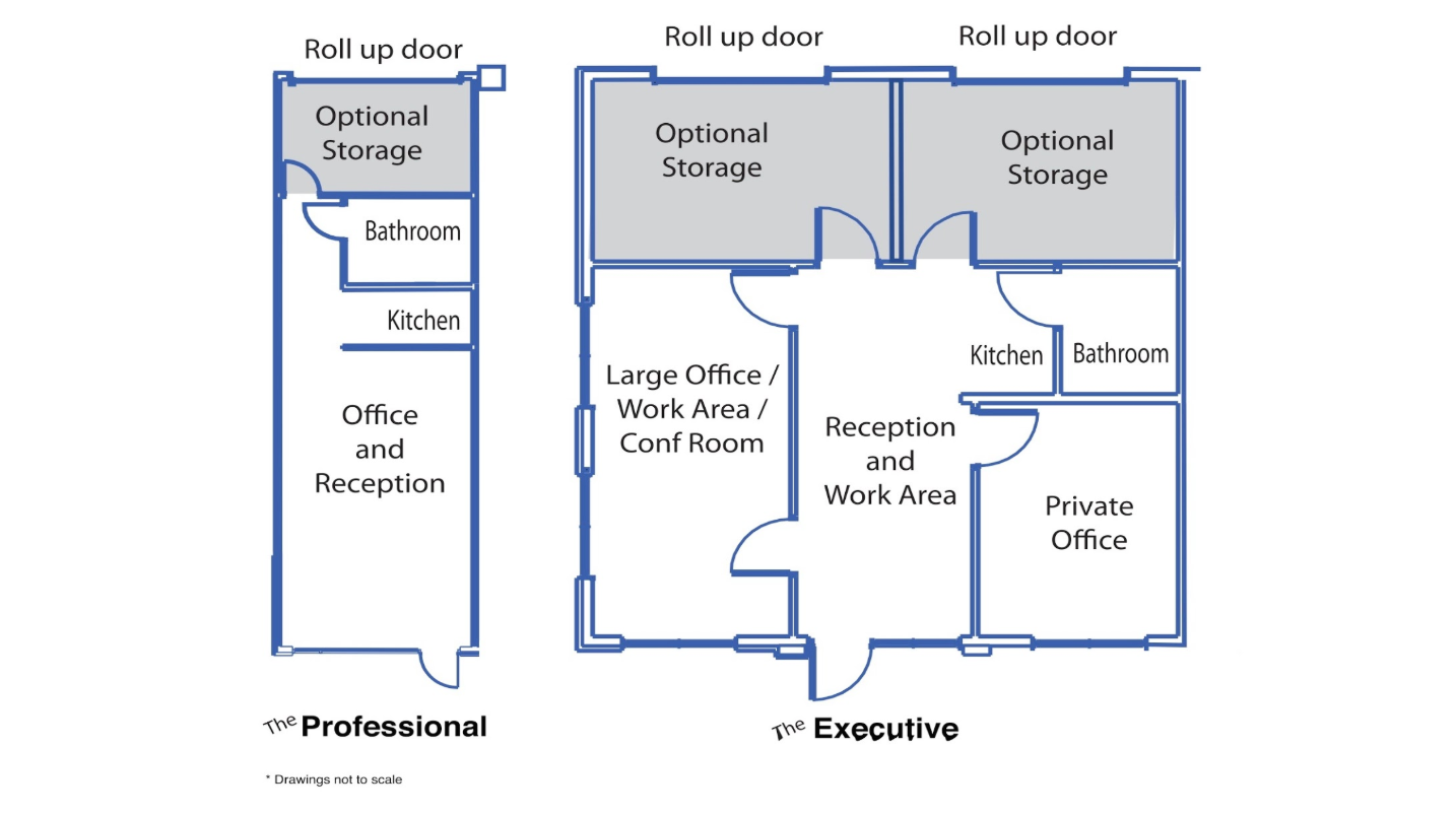 Two different office suite layouts to choose from in Columbus, GA