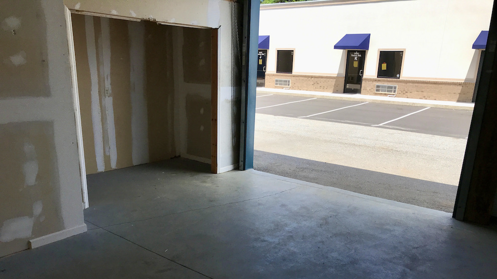 interior of attached storage for office suites at Storage Xxtra Columbus, GA Veterans Pkwy