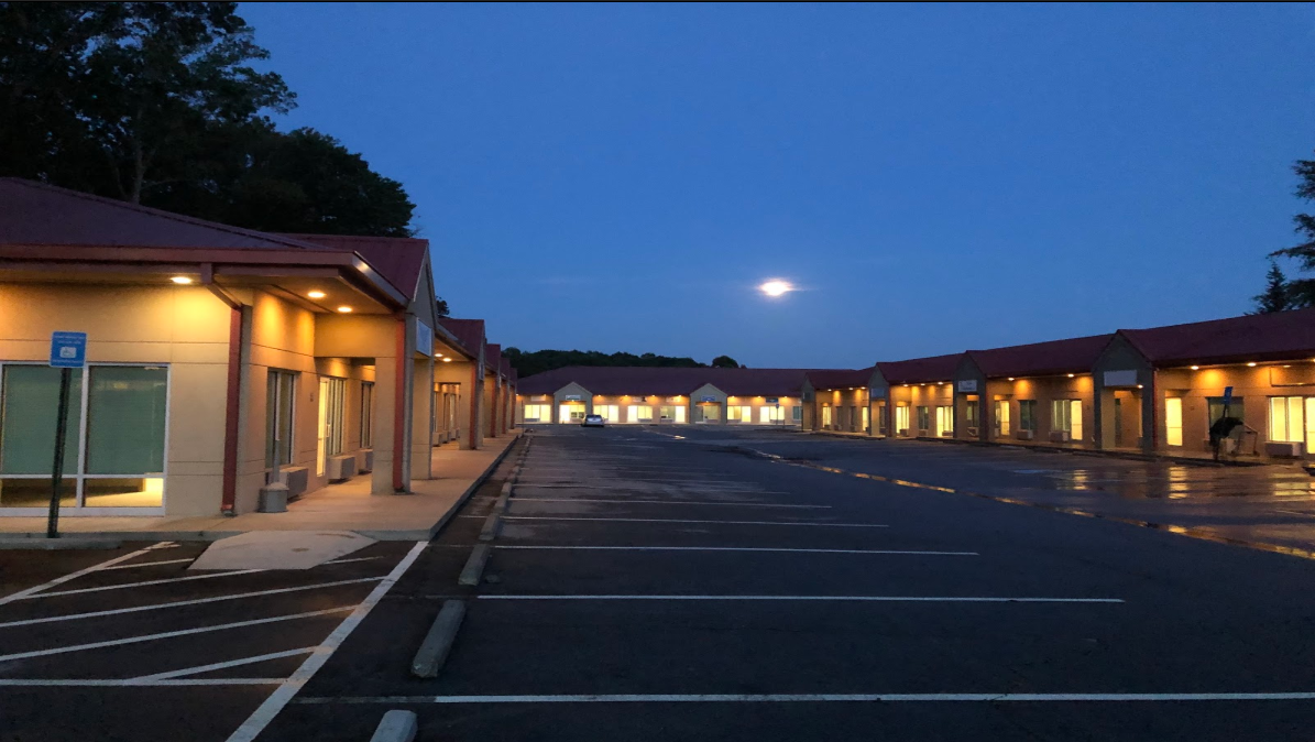 Well lit parking at our offices in Villa Rica, GA