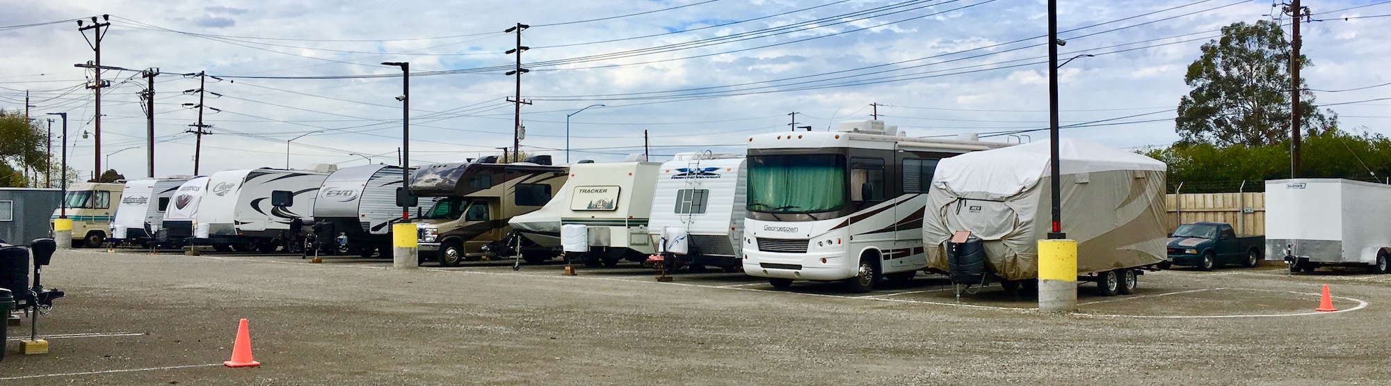 Outdoor Parking at Livermore RV & Boat Storage