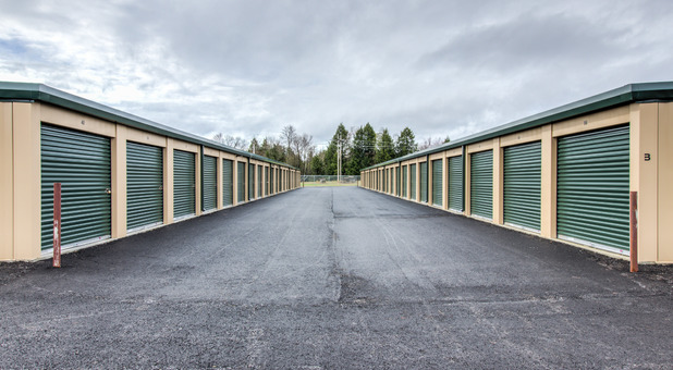 Rows of storage units in Georgia, VT