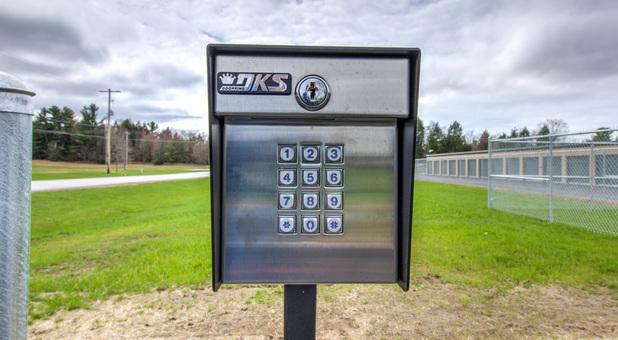 Security gate keypad at Georgia Self Storage