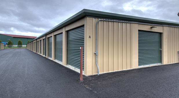 Outside self storage units in Georgia, VT