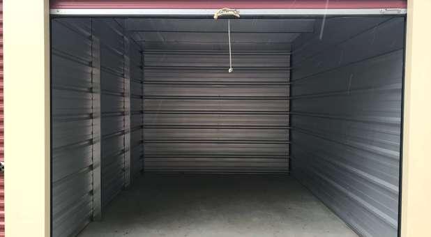 Inside look of a storage unit at U-Store Battle Creek