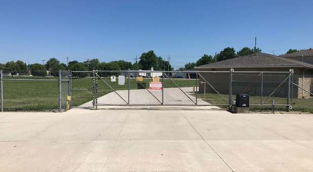 Keypad controlled gated entrance into storage units at Stop-N-Stor Northwood
