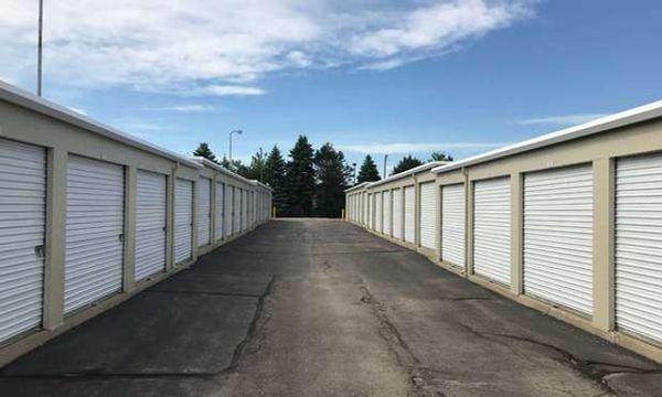 Large driveways and drive up storage units