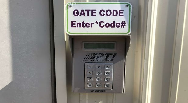 Keypad secured gated entrance