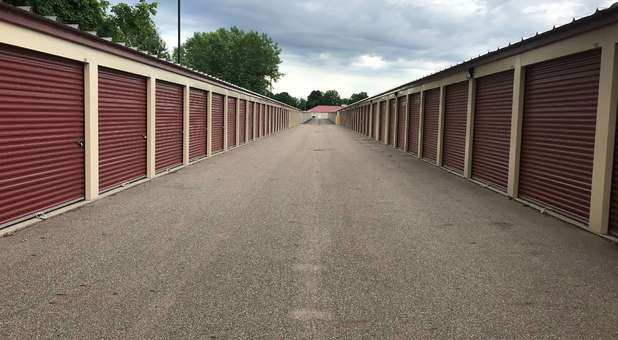Outdoor, drive up accessible storage units