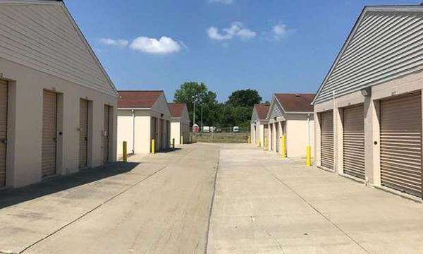 small and large storage units with drive-up access
