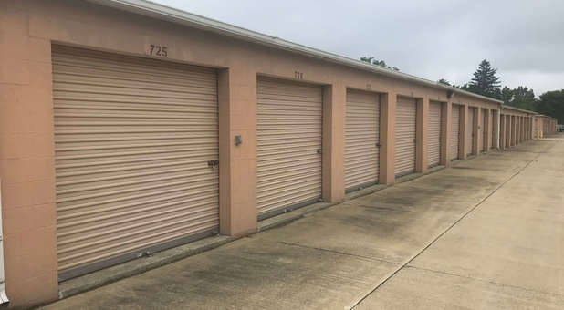 spacious storage units with drive up access