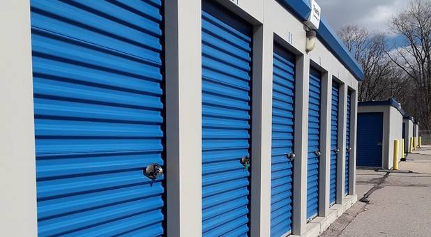 Outdoor storage lockers at U-Store Self Storage - Davison West