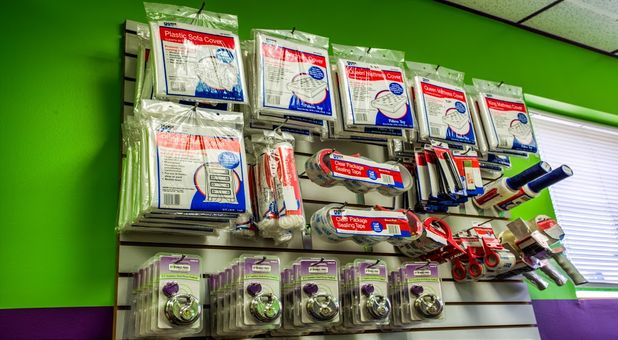 Packing supplies available for purchase