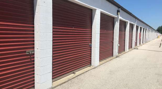 Large outdoor storage units at U-Store Self Storage - Holland