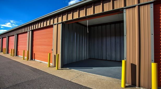 Large storage units with rollup doors