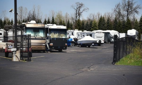 Secure, uncovered RV and boat storage