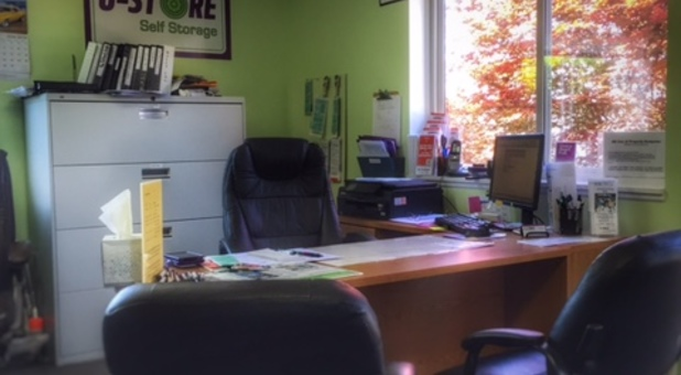 Inside our storage facility office