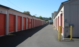 two rows of storage units